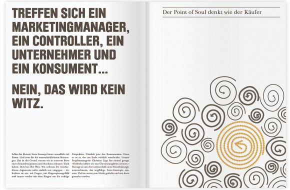 Point of Soul, Stuttgart. A project by Ippolito Fleitz Group – Identity Architects, Humour.