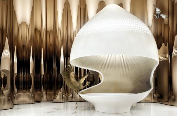 Kaldewei与德国设计师俱乐部(DDC)联手Pioniere项目:埃及艳后浴缸 / 家具与照明
