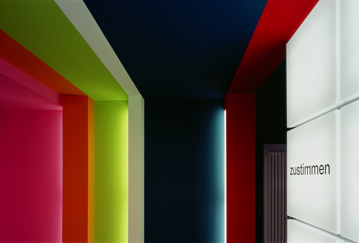 Panama Advertising Agency, Stuttgart. A project by Ippolito Fleitz Group – Identity Architects, Colours.