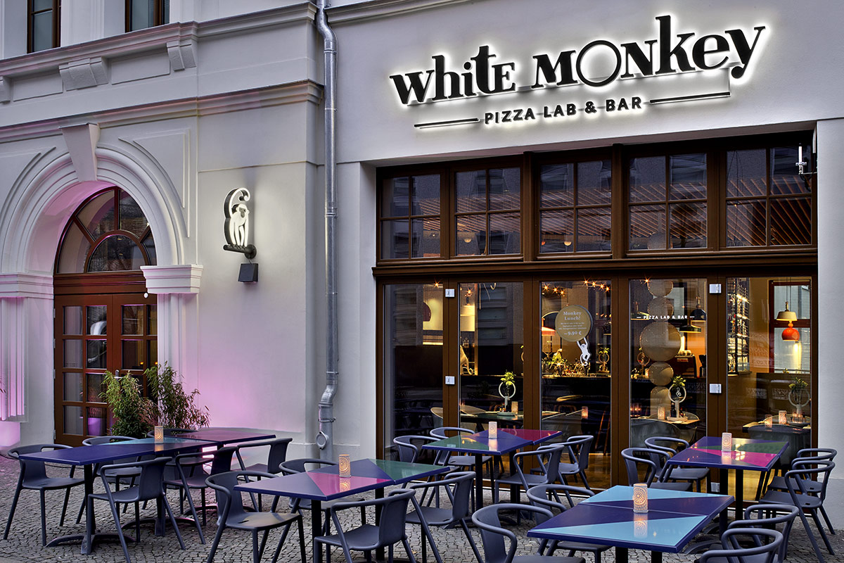 White Monkey Pizza Lab & Bar, Leipzig. Ein Projekt von Ippolito Fleitz Group – Identity Architects.