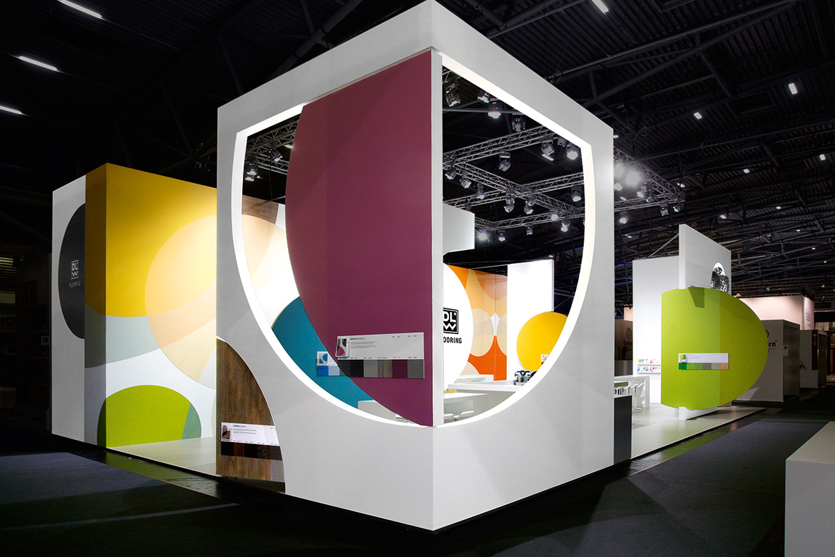 DLW Flooring – BAU 2017, Munich. A project by Ippolito Fleitz Group – Identity Architects, Colours.
