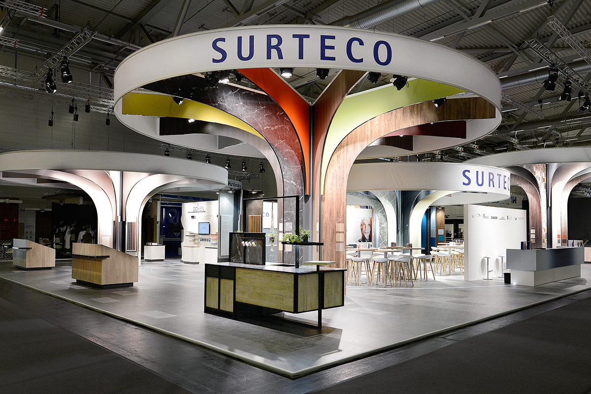 Surteco – interzum 2017. A project by Ippolito Fleitz Group – Identity Architects, Storytelling.