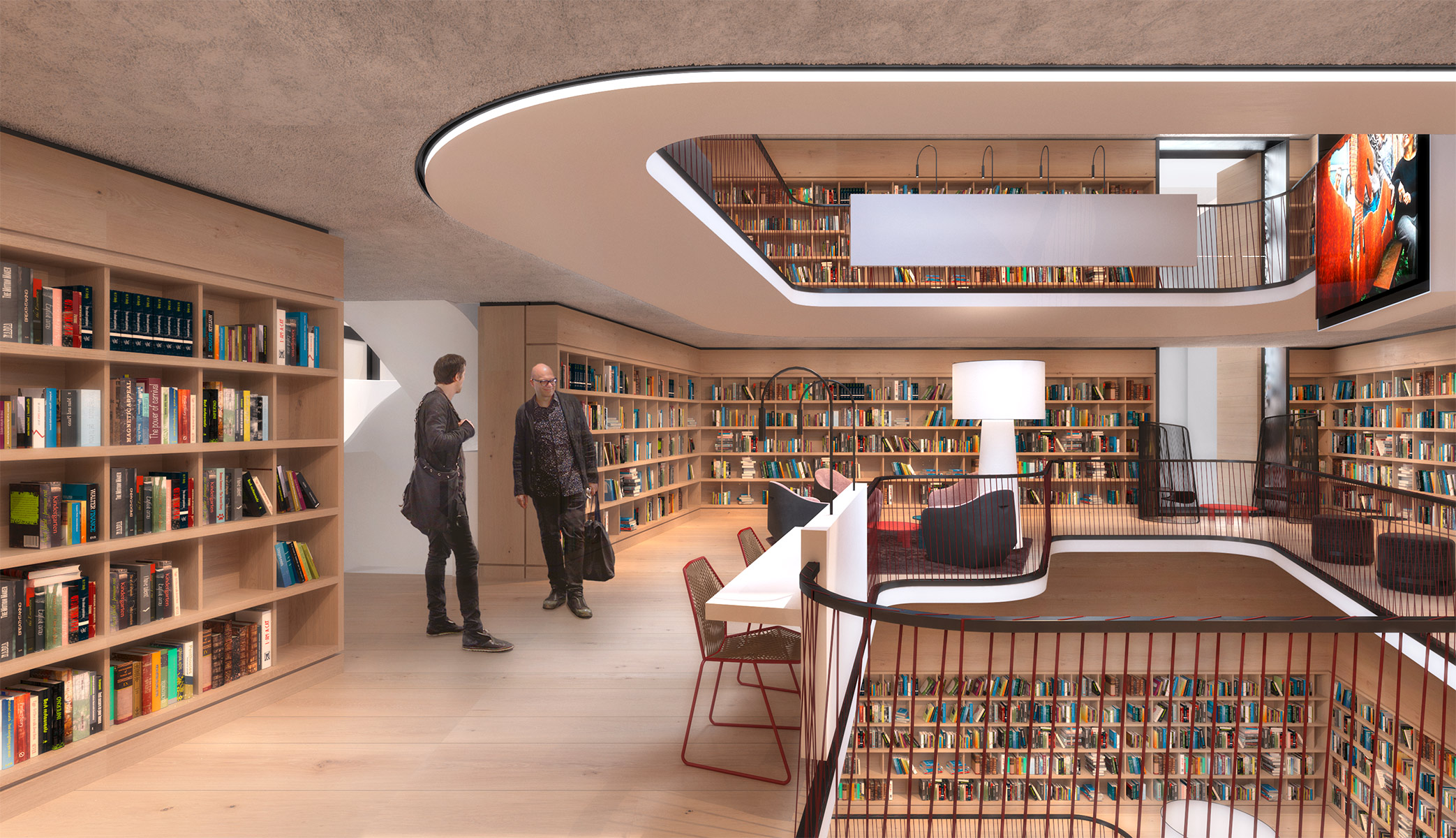 The new Schorndorf City Library, Schorndorf. A project by Ippolito Fleitz Group – Identity Architects.
