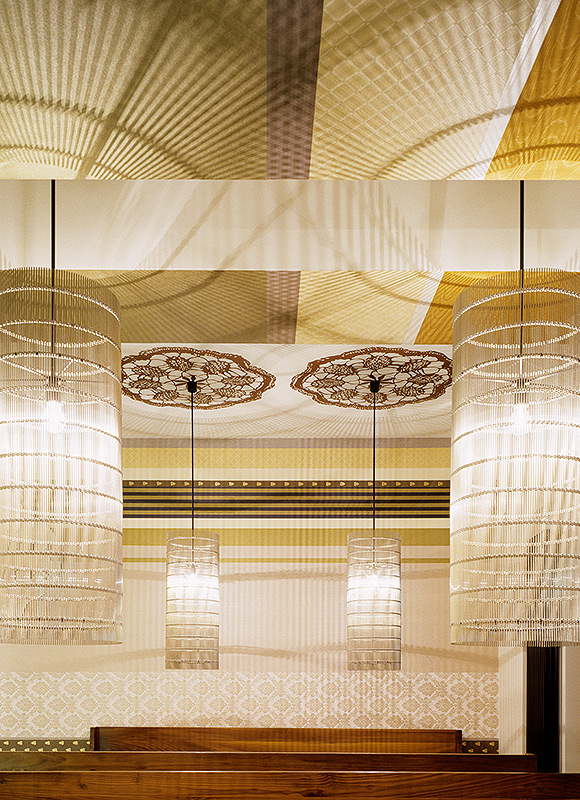 da Loretta Trattoria, Stuttgart. A project by Ippolito Fleitz Group – Identity Architects, Ceilings.
