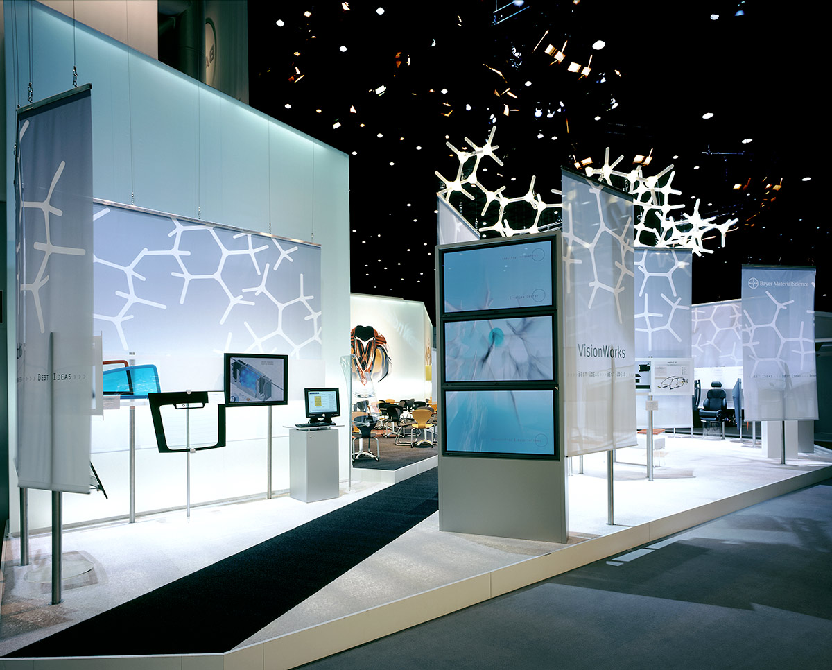 Exhibition Stand Futuristic : Bayer materialscience ag plastics fair « — ippolito