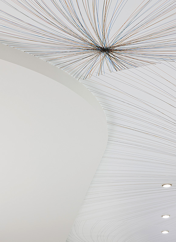 Conradt Optik, Mosbach. A project by Ippolito Fleitz Group – Identity Architects, Ceilings.