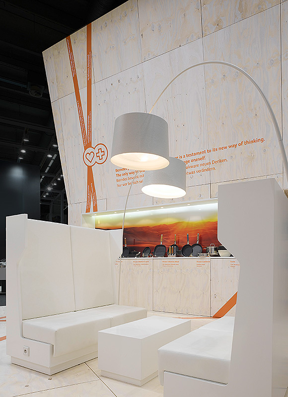 Berndes – Ambiente 2009, Frankfurt. A project by Ippolito Fleitz Group – Identity Architects, Cabins.