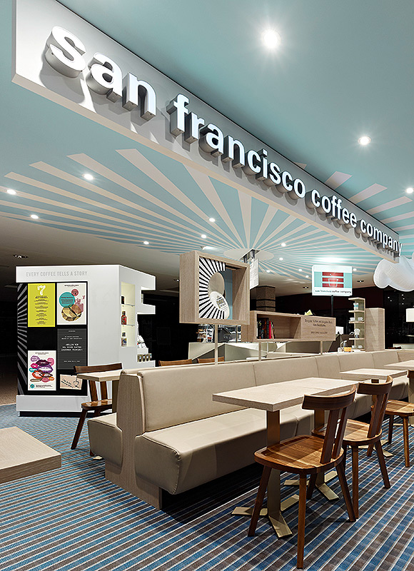 San Francisco Coffee Company, Hamburg. A project by Ippolito Fleitz Group – Identity Architects, Memory.