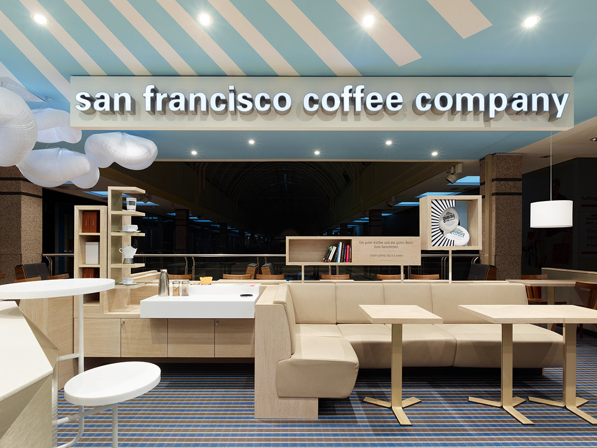San Francisco Coffee Company, Hamburg. A project by Ippolito Fleitz Group – Identity Architects.
