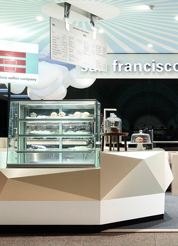 San Francisco Coffee Company, Hamburg. A project by Ippolito Fleitz Group – Identity Architects.
