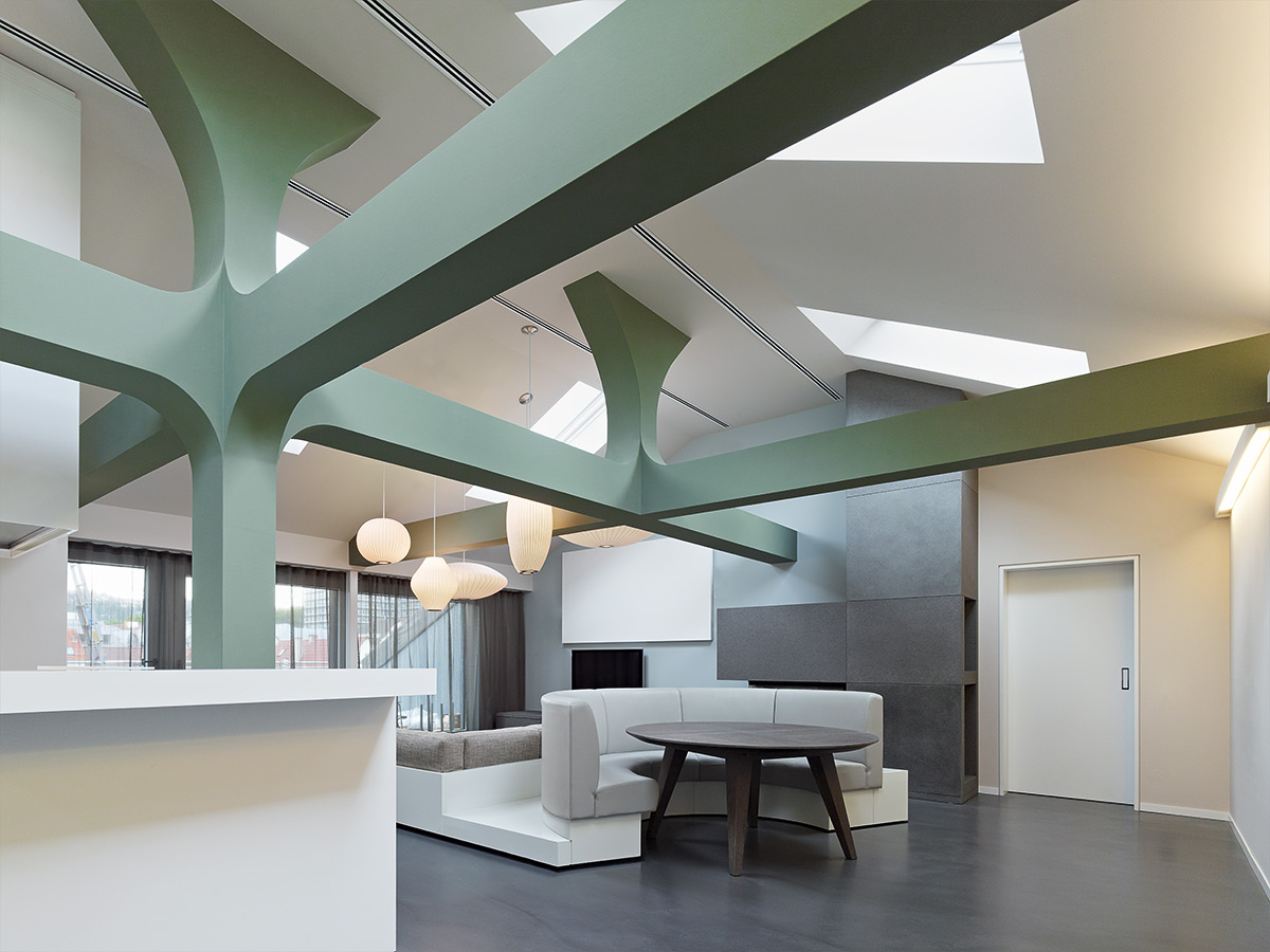 Apartment D, Stuttgart. A project by Ippolito Fleitz Group – Identity Architects, Ceilings.