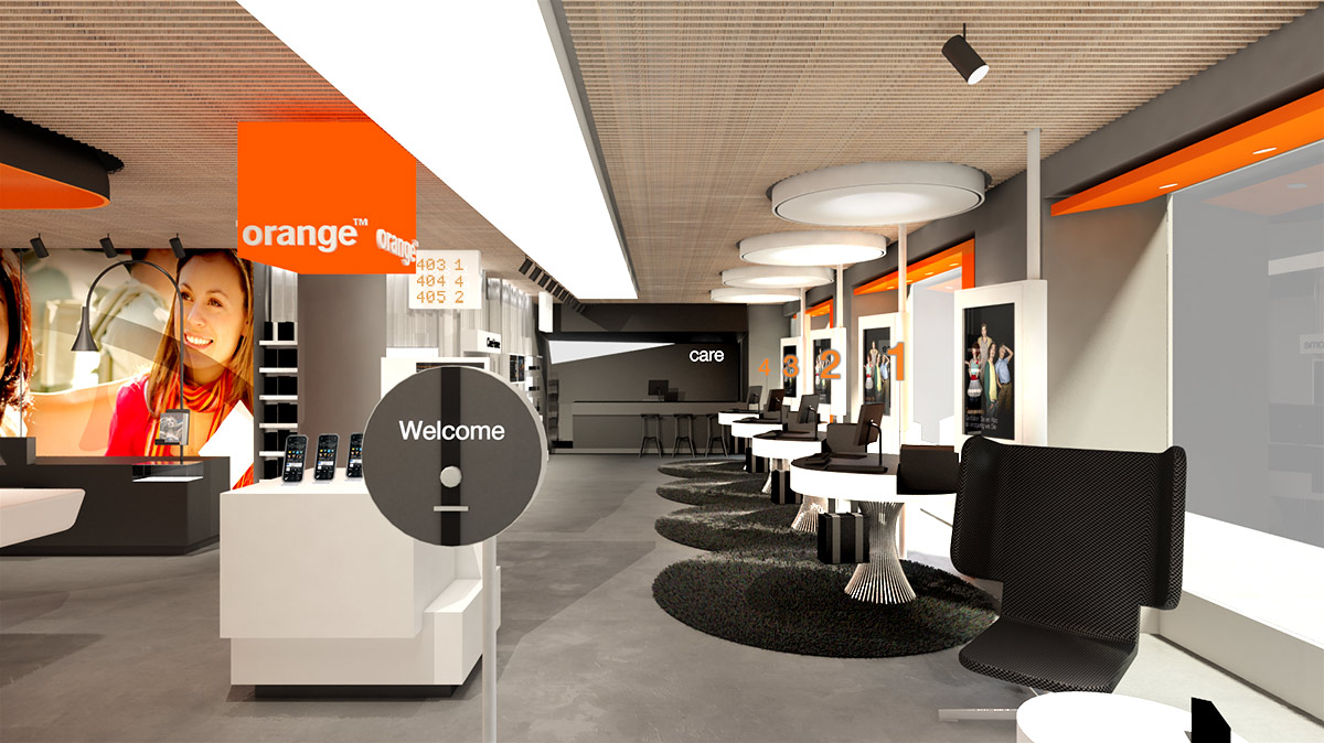 New Concept of Shops Orange
