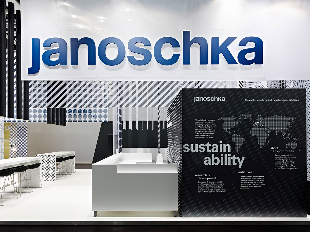 Janoschka – drupa 2012, Duesseldorf. A project by Ippolito Fleitz Group – Identity Architects.