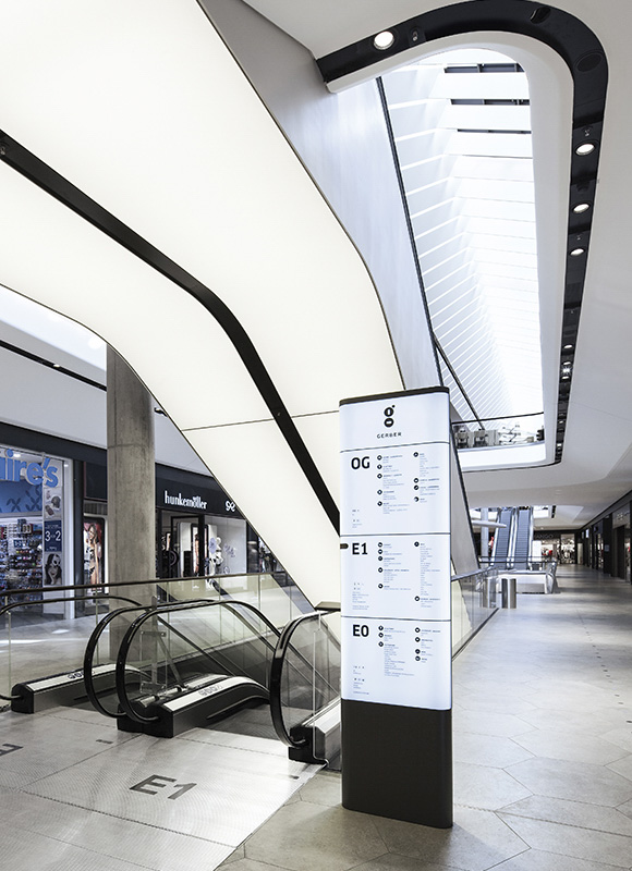Gerber signage system ippolito fleitz group for Indoor das design