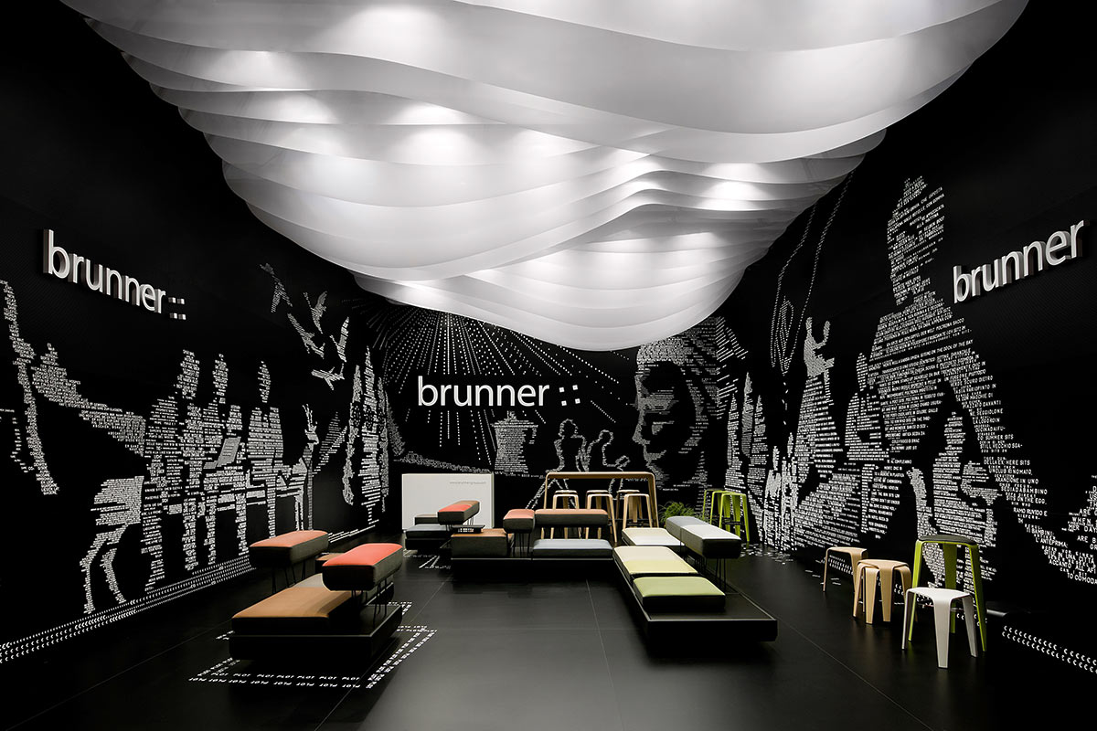 Brunner – Salone Milano 2012, Milan. A project by Ippolito Fleitz Group – Identity Architects, Ceilings.