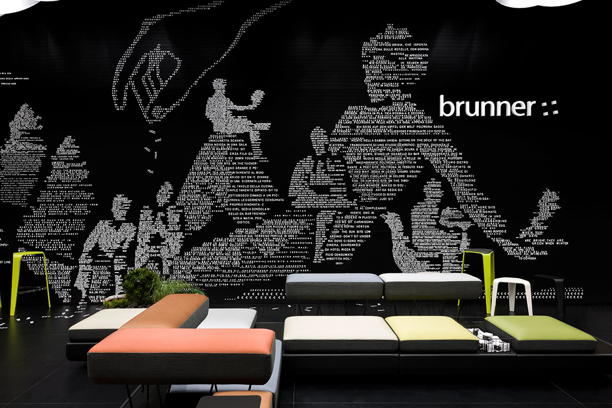 Brunner – Salone Milano 2012, Milan. A project by Ippolito Fleitz Group – Identity Architects, Humour.