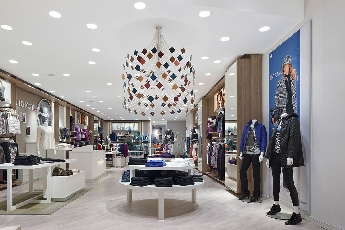 Laura Kent Store Frankfurt, Frankfurt. A project by Ippolito Fleitz Group – Identity Architects, Ceilings.