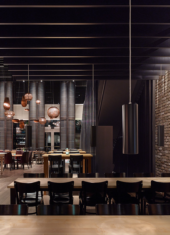 Motel One »Campus-Restaurant«, Munich. A project by Ippolito Fleitz Group – Identity Architects, Seating.