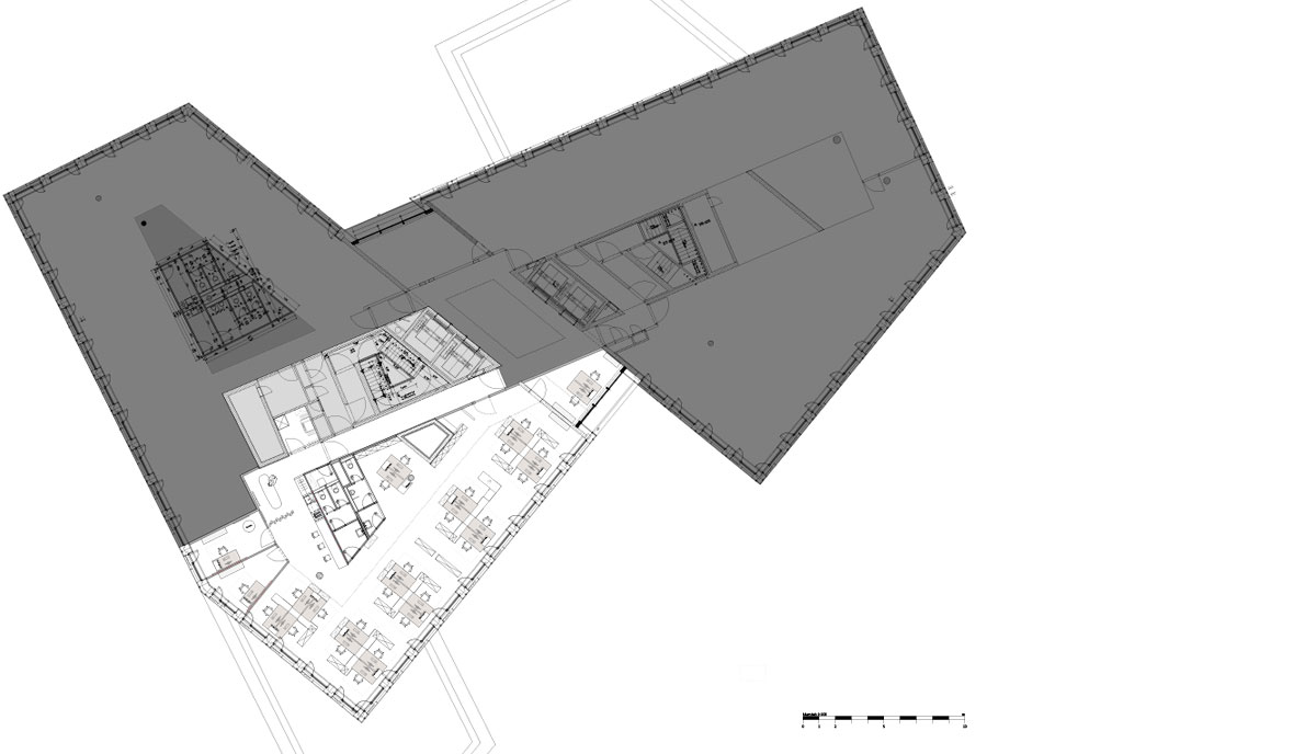 Rödl & Partner Stuttgart, Stuttgart. Ein Projekt von Ippolito Fleitz Group – Identity Architects.