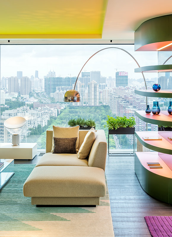 Show apartment 'Chromatic Spaces', Shanghai. A project by Ippolito Fleitz Group – Identity Architects, Colours.