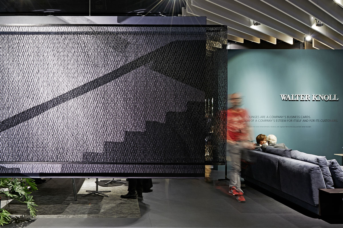 Carbon curtain & filter as styling elements. A project by Ippolito Fleitz Group – Identity Architects.